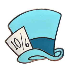 Alice in Wonderland Pin: Mad Hatter Character Hat